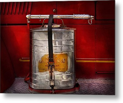 Fireman - Indian Pump  Metal Print by Mike Savad