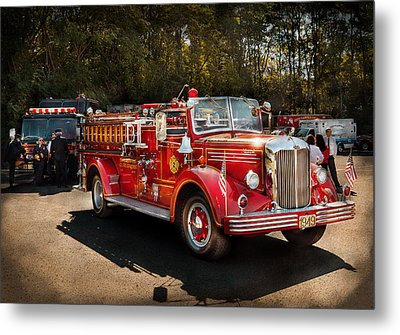 Fireman - The Procession  Metal Print by Mike Savad