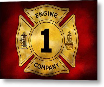 Fireman - Engine Company 1 Metal Print