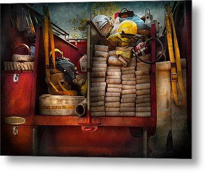 Fireman - Fire Equipment  Metal Print