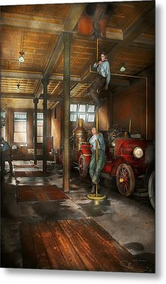 Firemen - Answering The Firebell 1922 Metal Print