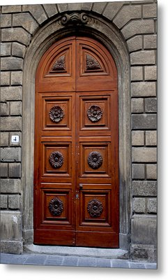Firenze Door Metal Print