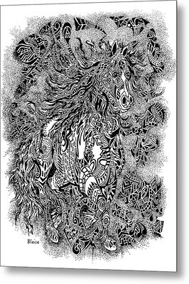 Firestorm In Black And White Metal Print by Yvonne Blasy