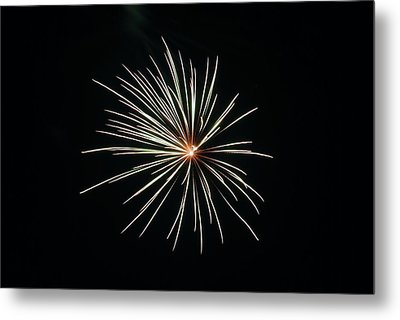 Fireworks 002 Metal Print by Larry Ward