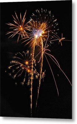 Fireworks 2 Metal Print by Michael Peychich