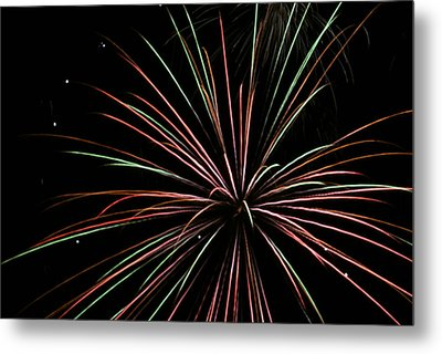 Metal Print featuring the photograph Fireworks 2 by Ron Read