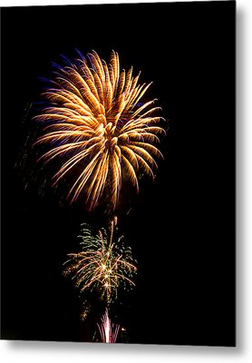 Metal Print featuring the photograph Fireworks 4 by Bill Barber