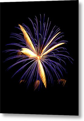 Metal Print featuring the photograph Fireworks 6 by Bill Barber