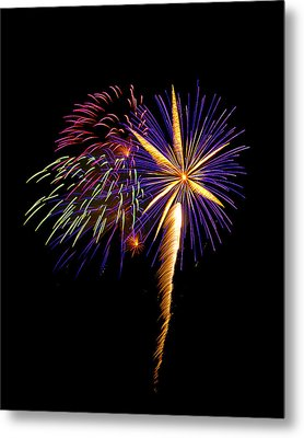 Metal Print featuring the photograph Fireworks 8 by Bill Barber