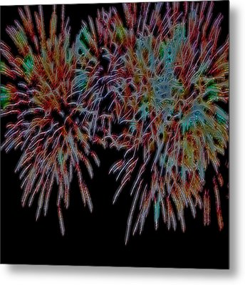 Fireworks Abstract Metal Print
