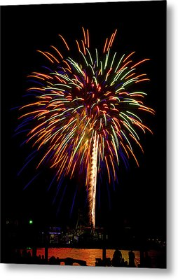 Metal Print featuring the photograph Fireworks by Bill Barber
