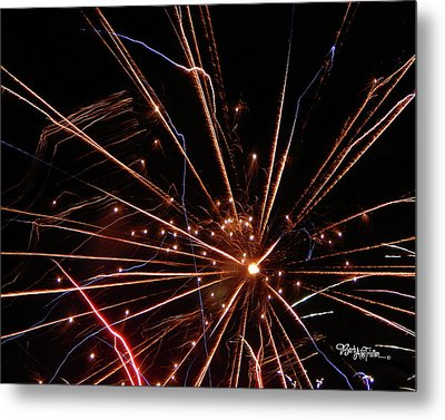 Metal Print featuring the photograph Fireworks Blast #0703 by Barbara Tristan