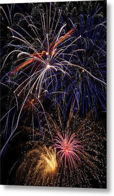 Fireworks Celebration  Metal Print by Garry Gay