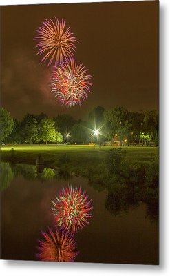 Fireworks During Fair St Louis Metal Print by Garry McMichael