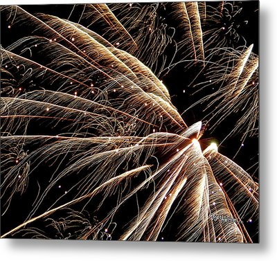 Metal Print featuring the photograph Fireworks Evolution #0710 by Barbara Tristan