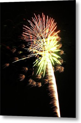 Fireworks From A Boat - 9 Metal Print by Jeffrey Peterson