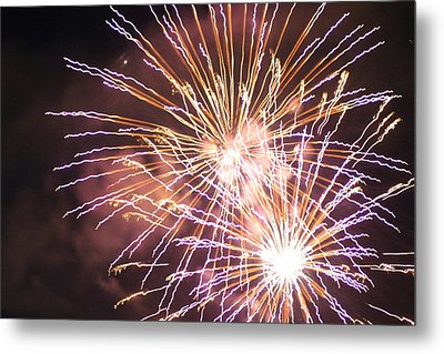 Metal Print featuring the digital art Fireworks In The Park 3 by Gary Baird