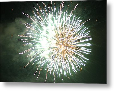 Fireworks In The Park 4 Metal Print by Gary Baird