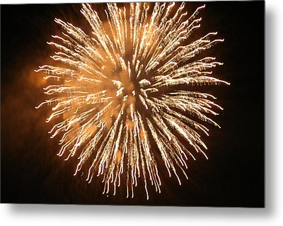 Fireworks In The Park 5 Metal Print by Gary Baird