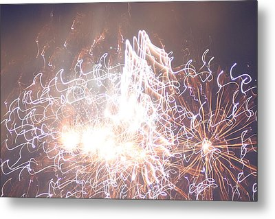Fireworks In The Park 6 Metal Print by Gary Baird