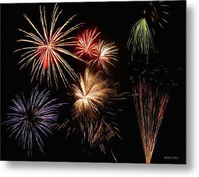 Fireworks Metal Print by Jeff Kolker