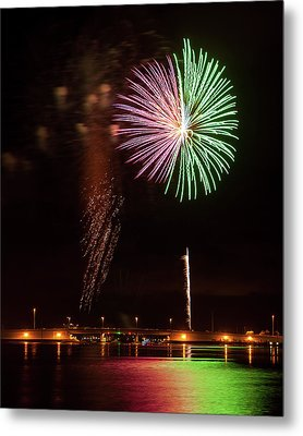 Fireworks Over Grand Lagoon Metal Print