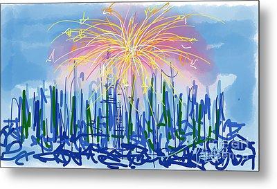 Fireworks Metal Print by Robert Yaeger