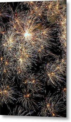 Metal Print featuring the photograph Fireworks by Suzanne Stout