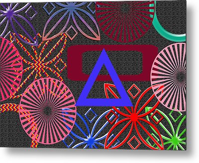 Fireworks Metal Print by Tina M Wenger