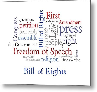 First Amendment - Bill Of Rights Metal Print by Antique Images