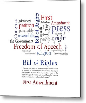 First Amendment Freedom Of Speech Metal Print by Antique Images
