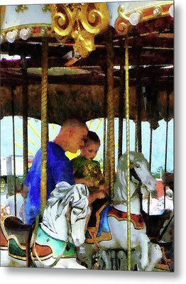 First Carousel Ride Metal Print by Susan Savad