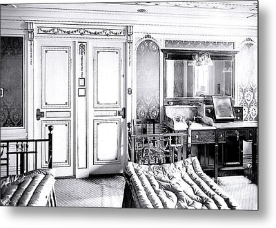 First Class Stateroom C65 On Titanic Metal Print by The Titanic Project