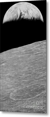 First Earthrise 1966 Metal Print
