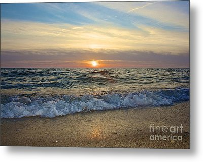 First Encounter Beach Metal Print by Amazing Jules