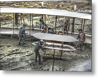 First Flight Wright Brothers Metal Print by Randy Steele