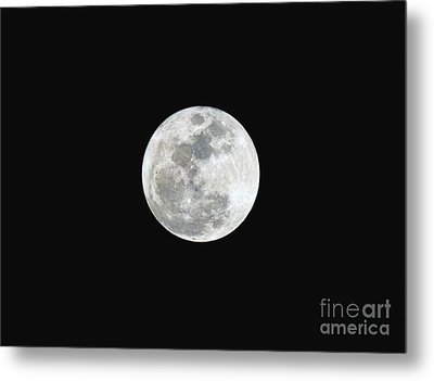 Metal Print featuring the photograph First Full Moon Of 2016 by Eddie Yerkish
