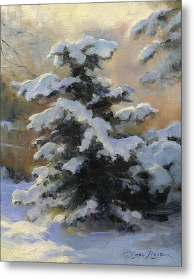 First Heavy Snow Metal Print by Anna Rose Bain