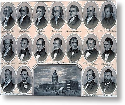 First Hundred Years Of American Presidents Metal Print