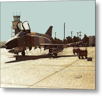 Metal Print featuring the digital art First Jet by Walter Chamberlain