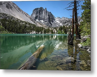First Lake Reflection Metal Print