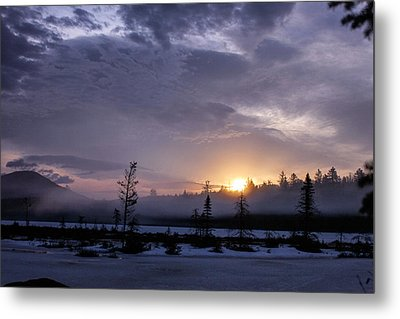 First Light At Wolf Pond Metal Print