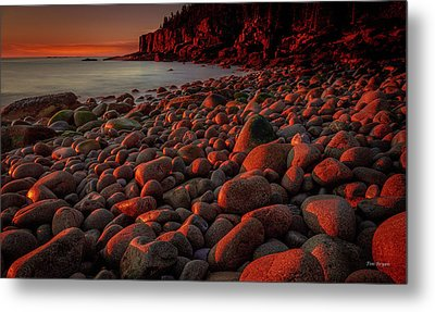 First Light On A Maine Coast Metal Print