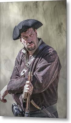 First Line Of Defense The Frontiersman Metal Print by Randy Steele