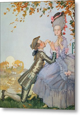 First Love Metal Print by Konstantin Andreevic Somov