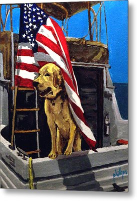 Metal Print featuring the painting First Mate by Jim Phillips