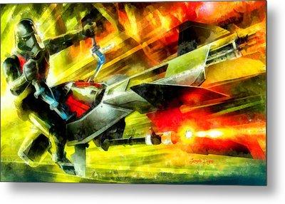 First Order Combat Speeder  - Aquarell Style -  - Da Metal Print