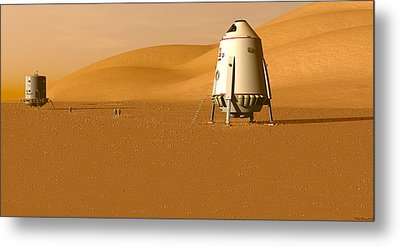 Metal Print featuring the digital art First Outpost by David Robinson