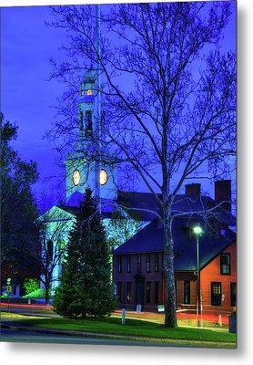First Parish Church - Concord Ma Metal Print by Joann Vitali