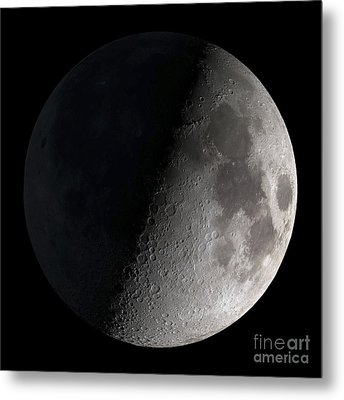 First Quarter Moon Metal Print by Stocktrek Images